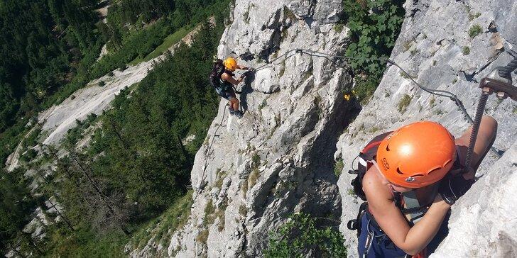 Kurz Via Ferrata lezení Vrabinec vč. výhledů do údolí Labe