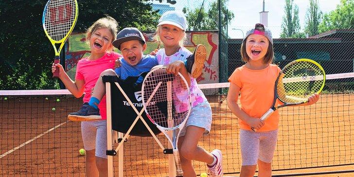 Letní 5denní příměstský tábor s tenisem v Praze pro děti ve věku 4–15 let