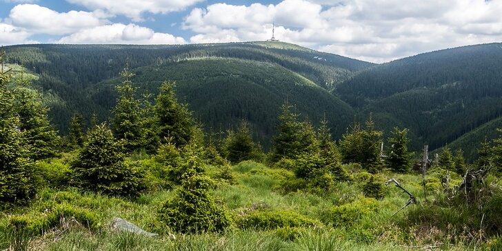 Pobyt pod Pradědem: čistá příroda Jeseníků, polopenze a třeba i wellness