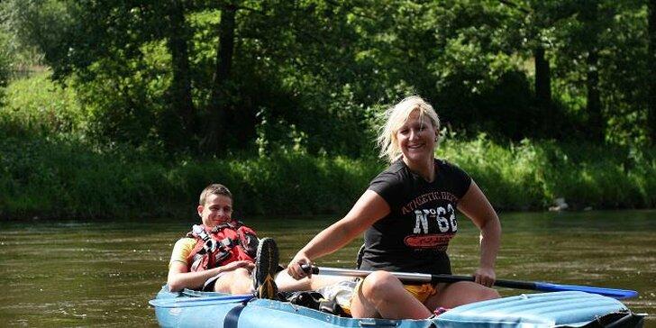Celodenní vodácký výlet po řece Moravě: zapůjčení lodě i výbavy