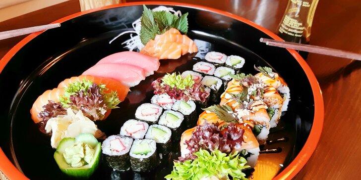 Ochutnejte asijské dobroty: střední či velký sushi set i japonská miso polévka