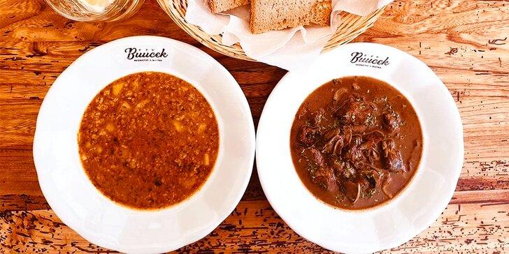 Degustace klobás, masa a uzenin pro dva v Řeznictví & bistro Bůůůček Praha
