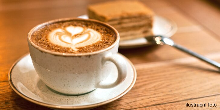 Bio čaj, alžírská káva nebo macchiato s příchutí a zákusek podle výběru