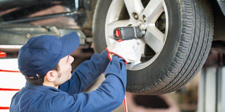 Kompletní přezutí pneumatik včetně vyvážení a nahuštění