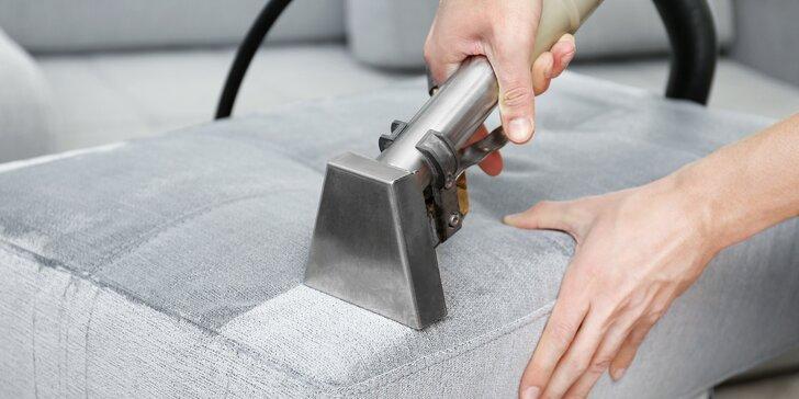 Židle a sedačky jako nové díky mokrému čištění, plus jejich dezinfekce