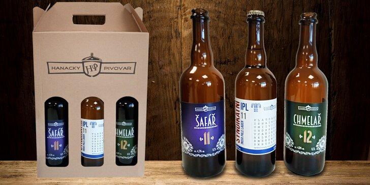 Osvěžení na doma: tři piva z Hanáckého pivovaru v designových lahvích