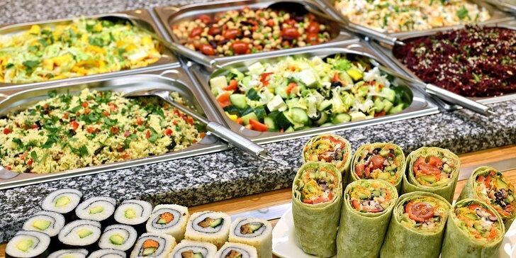 300 g jídla podle výběru v bistru Vegan Life: wrapy, saláty, sushi, nudle i sójové maso