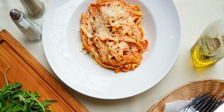 Oběd k odnosu s sebou: těstoviny domácí výroby podle výběru nebo hovězí carpaccio