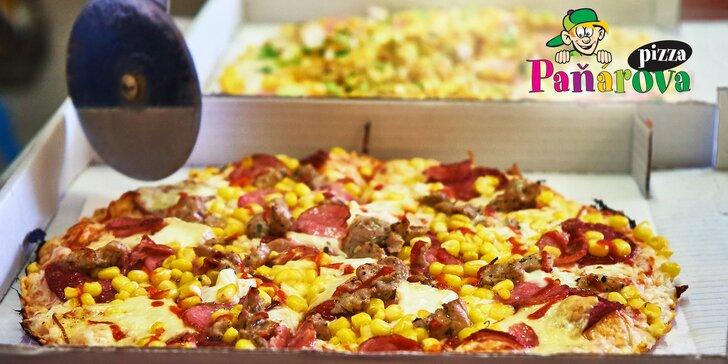 Dvě poctivé Paňárovy pizzy s rozvozem až k vám domů: výběr z 15 druhů