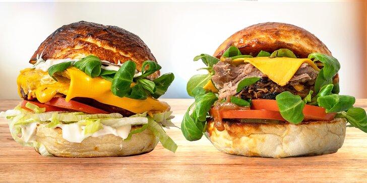 2× výborný burger k odnosu s sebou: na výběr z 8 druhů