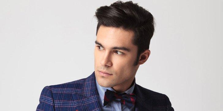 Pánský střih včetně stylingu a aplikace vlasového tonika