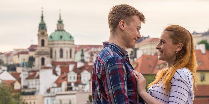 1 nebo 2 hodiny profi focení pro páry na nejkrásnějších místech Prahy