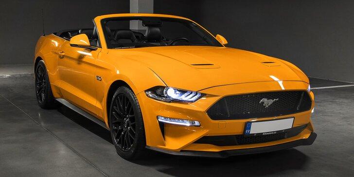 20–60 min. řízení nejnovějšího Mustangu GT 5.0 Cabrio s výkonem 480 koní