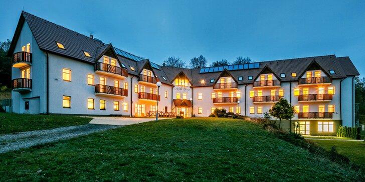 Nový hotel v Krušných horách: neomezený wellness, polopenze a zábava