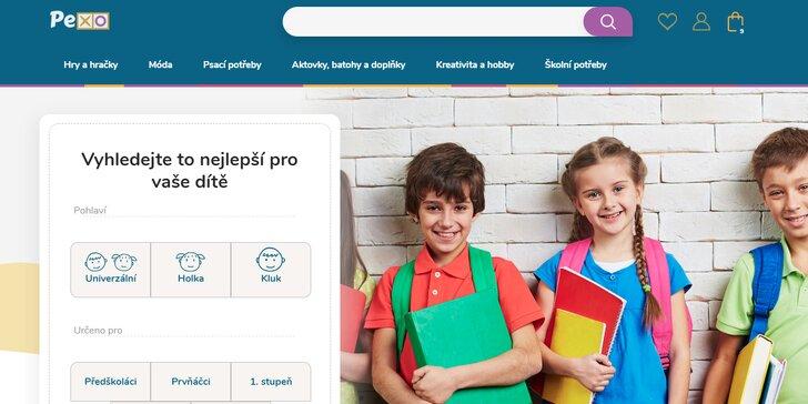 Hlavní stránka e-shopu Pexo.cz