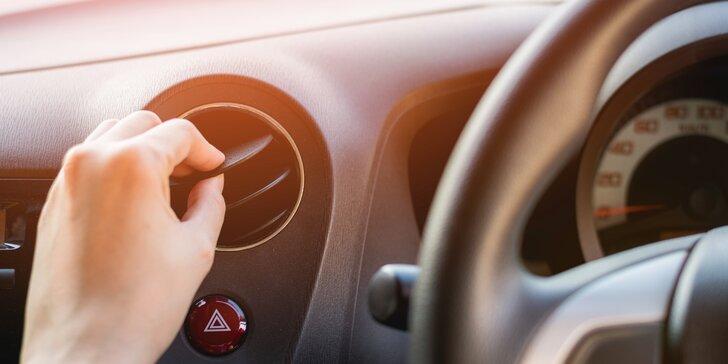 Kompletní péče: kontrola klimatizace auta a doplnění chladiva s možností dezinfekce