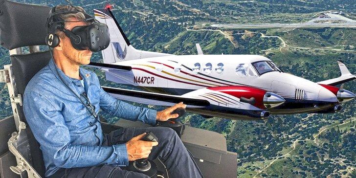 Staňte se pilotem: 60min. kurz na leteckém simulátoru ve virtuální realitě