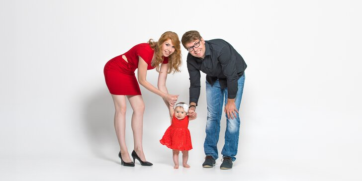 Focení v ateliéru až 90 min.: portrétní, rodinné, fashion či těhotenské