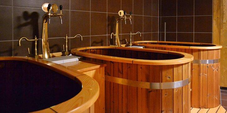 Pivní lázně pro 1 nebo 2 osoby, odpočinek v solné jeskyni a neomezená konzumace piva