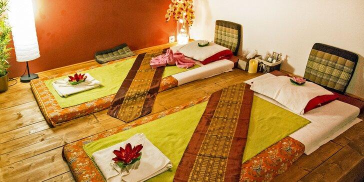 60 nebo 90 minut párové relaxace: thajská olejová masáž