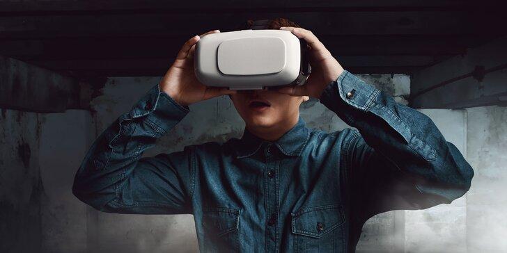 Únikovka ve virtuální realitě pro 2 odvážné: na výběr 4 strašidelné hry, víkendové termíny