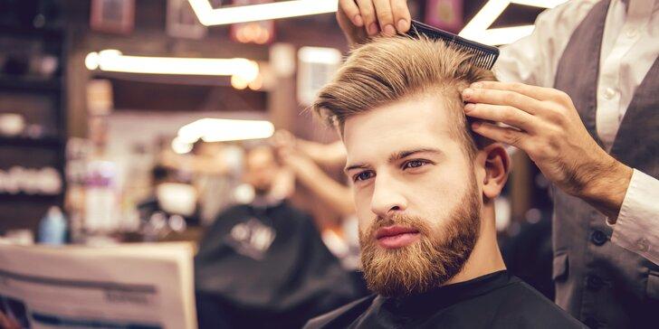 Úprava vousů i klasický střih v Barber Deluxe: mytí, masáž obličeje i opálení chloupků