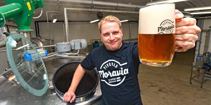 Komentovaná prohlídka pivovaru Moravia: neomezená ochutnávka, 12 řemeslných piv na doma