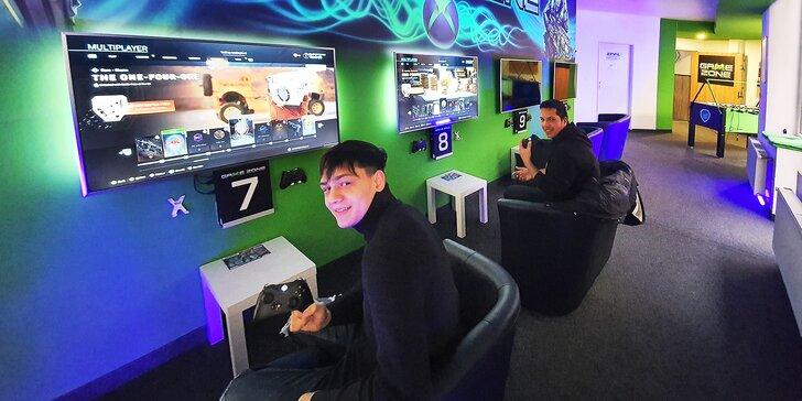 1 hod. zábavy v herní zóně: virtuální realita, závodní auto, xbox a jiné konzole