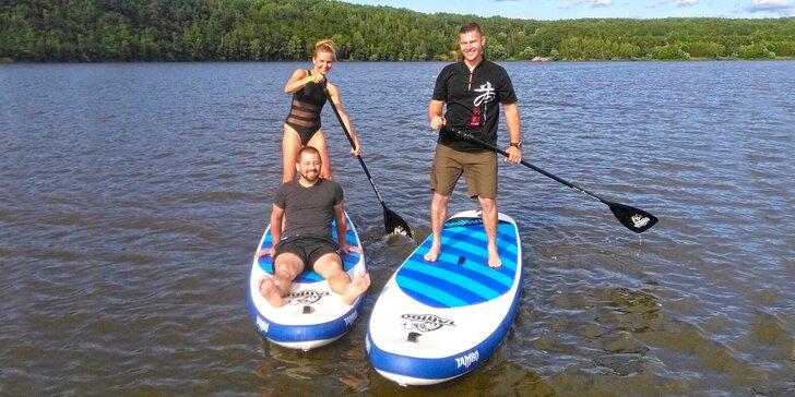 Skupinový kurz paddleboardingu pro začátečníky: vstup pro 1 až 4 osoby
