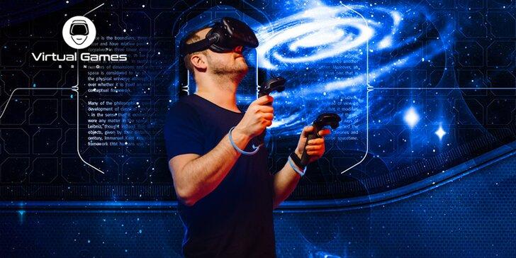 Virtuální realita v centru Brna: 60 až 120 minut hry až pro 6 osob