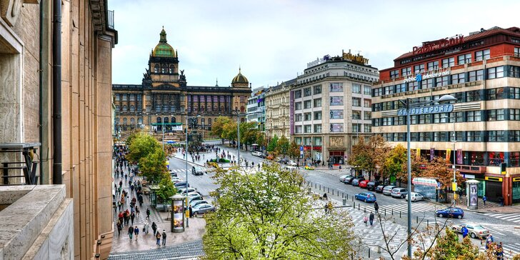 5* pobyt v centru Prahy: hotel přímo na Václavském náměstí a snídaně