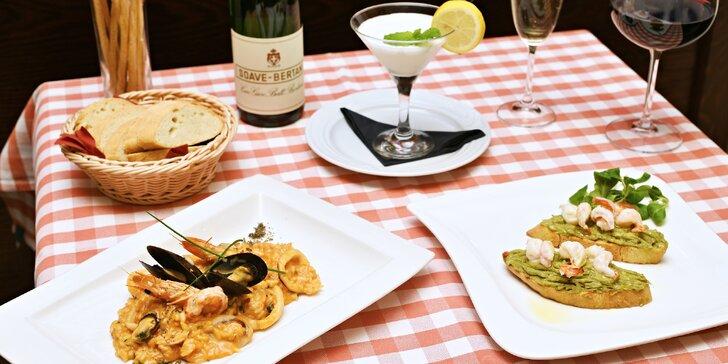 Menu plné italských specialit: 3 lahodné chody v restauraci Il Palazzo pro dva
