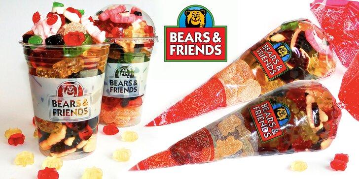 Barevné mlsání: 400g nebo 500g mix ovocných želé bonbónů