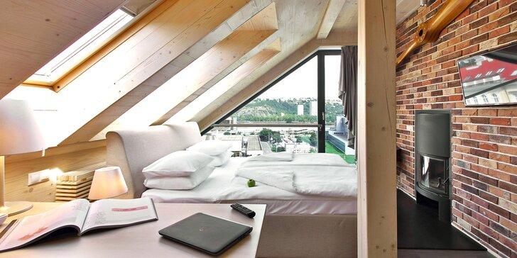 Romantika v Praze: 4* hotel s designovými pokoji, snídaně a relaxace ve wellness