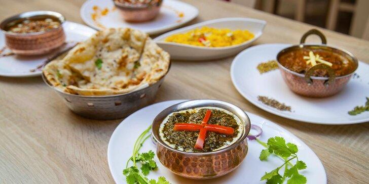 Voucher na 500 i 1000 Kč do The Royal Maharaja: masové i vege chody, polévky, jemné i pálivé omáčky