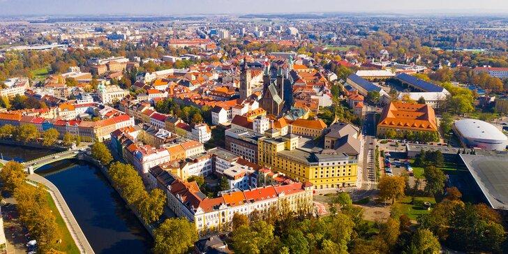 Pobyt se snídaní v moderních apartmánech v centru Hradce Králové