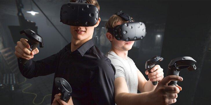 Napínavá úniková hra ve virtuální realitě dle výběru pro 2 osoby