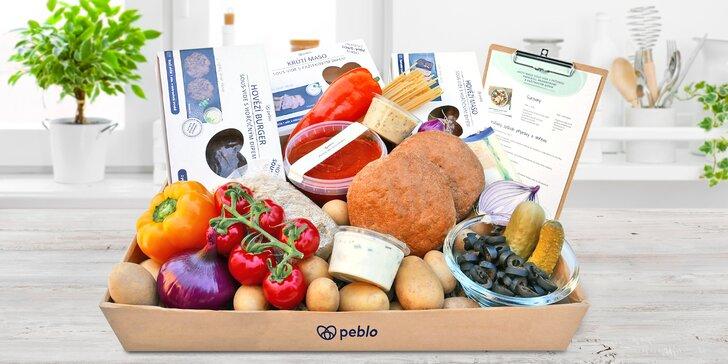 Zdravá hlavní jídla k vám domů: snadná příprava, boxy podle výběru, 6 porcí