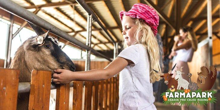 Rodinné vstupenky do Farmaparku: obrovský areál plný zvířátek a zábavy
