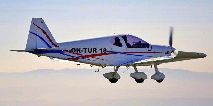 Pilotem na zkoušku: 15–60 min. v letounu Alto 912 TG s dohledem instruktora
