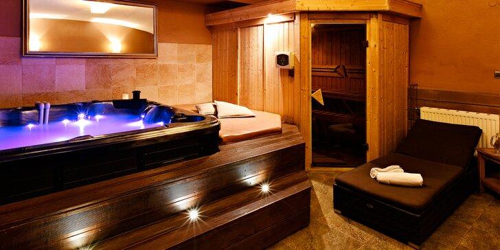 Privátní wellness pro dva: vířivka, sauna i varianta s občerstvením
