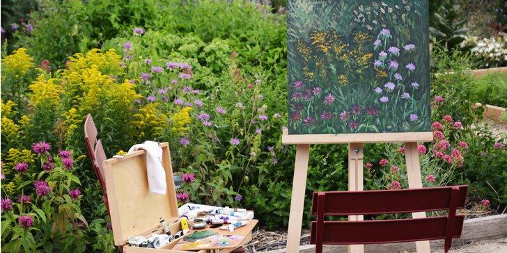 Kurz malování v bylinkové zahradě: 5 hodin plných malířských technik