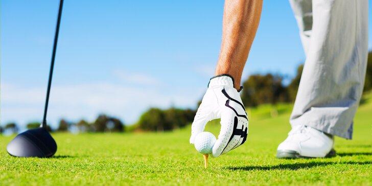 Golfistou na jeden den: 2hodinový trénink i opravdová hra s trenérem