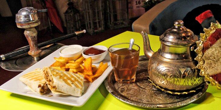 Pohoda v čajovně: jídlo a nápoj dle výběru a k tomu třeba i vodní dýmka