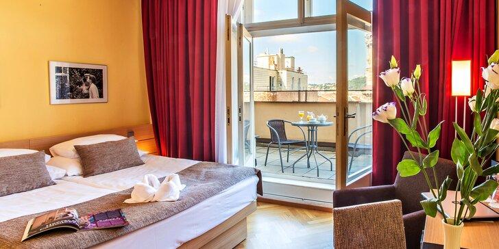 4* romantický pobyt v centru Prahy: snídaně, degustační menu nebo privátní wellness