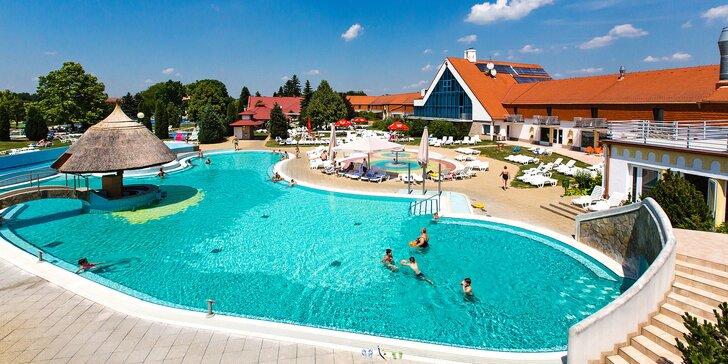 Pobyt v maďarských lázních Kehida Termál až pro 6 osob: neomezený wellness i polopenze
