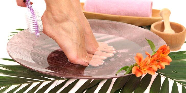Luxusní spa pedikúra pro muže a ženy i s možností gel laku