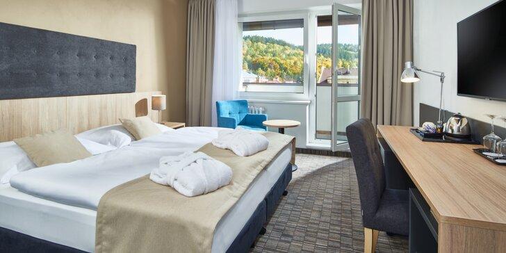 Odpočinek a relaxace v Mariánských Lázních pro dva: wellness, procedury, strava i turistická karta