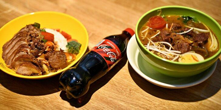 Ochutnejte čínskou kuchyň: maso z grilu, kuřecí na kari, ramen a nápoj pro 2 osoby