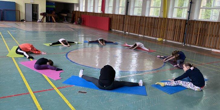 Příměstské akrobatické tábory: Aerial Silks, Aerial Hoop, gymnastika a spoustu další zábavy